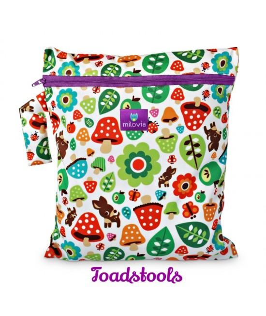 Săculeț pentru depozitarea scutecelor textile (Wet Bag) Milovia Toadstools
