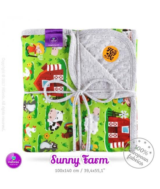Pătură Milovia Dotness Sunny Farm M - hipoalergenică punctată 100 x 140 cm