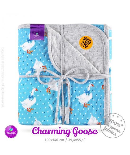 Pătură Milovia Dotness Charming Goose M - hipoalergenică punctată 100 x 140 cm