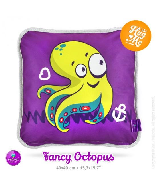 Pernă Milovia Fancy Octopus - hipoalergenică cu husă detașabilă