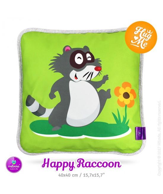 Pernă Milovia Happy Racoon - hipoalergenică cu husă detașabilă