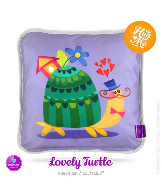 Pernă Milovia Lovely Turtle - hipoalergenică cu husă detașabilă