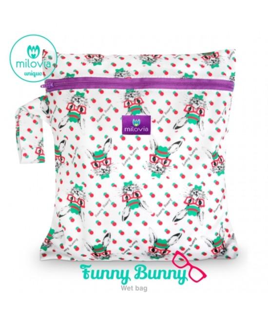 Săculeț pentru depozitarea scutecelor textile (Wet Bag) Milovia Funny Bunny