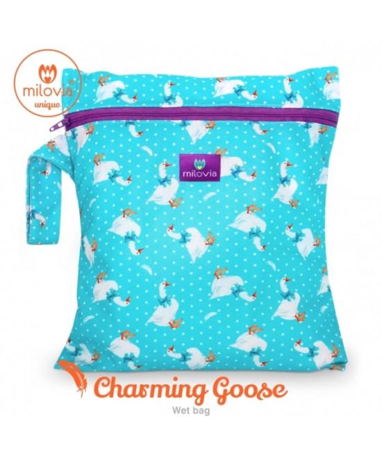 Săculeț pentru depozitarea scutecelor textile (Wet Bag) Milovia Charming Goose