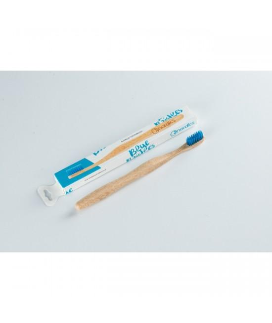 Periuță de dinți din bambus pentru adulți - Nordics albastru