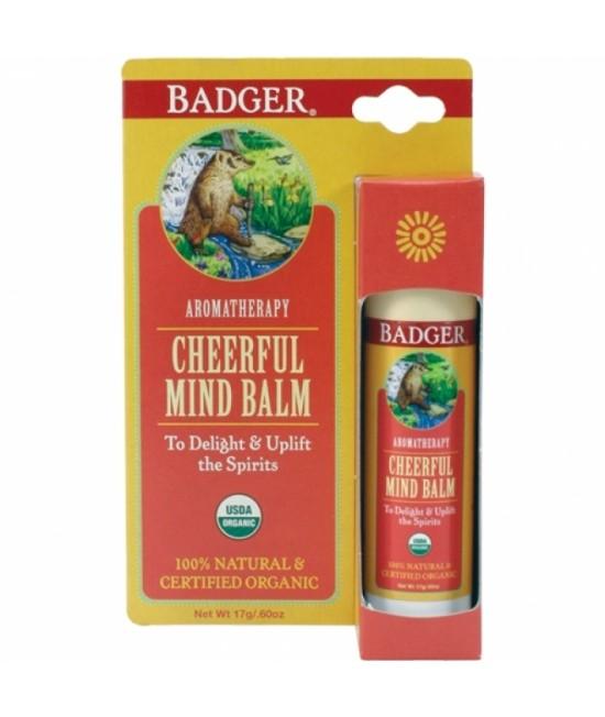 Balsam aromaterapie Badger Cheerful Mind pentru înveselire - 17 g