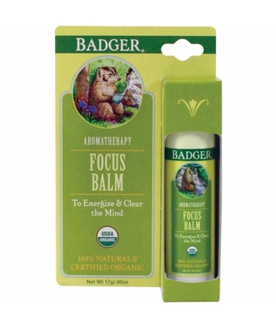 Balsam aromaterapie Badger Focus Mind pentru concentrare - 17 g