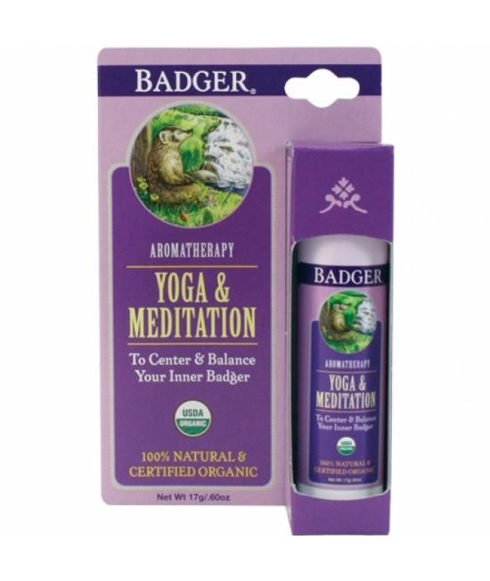 Balsam aromaterapie Badger Yoga & Meditation pentru echilibrare - 17 g