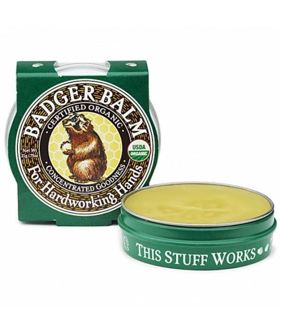 Mini-Balsam organic vindecător pentru mâini crăpate și muncite Badger - 21 g