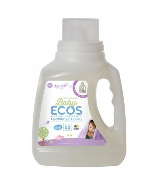 Detergent lichid ecologic pentru rufele bebelușilor Ecos Lavandă - 50 de spălări