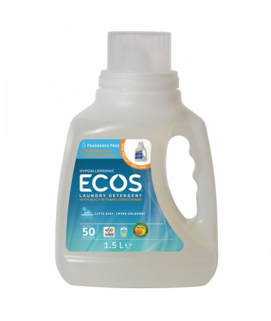 Detergent lichid ecologic pentru rufe Ecos fără miros - 50 de spălări