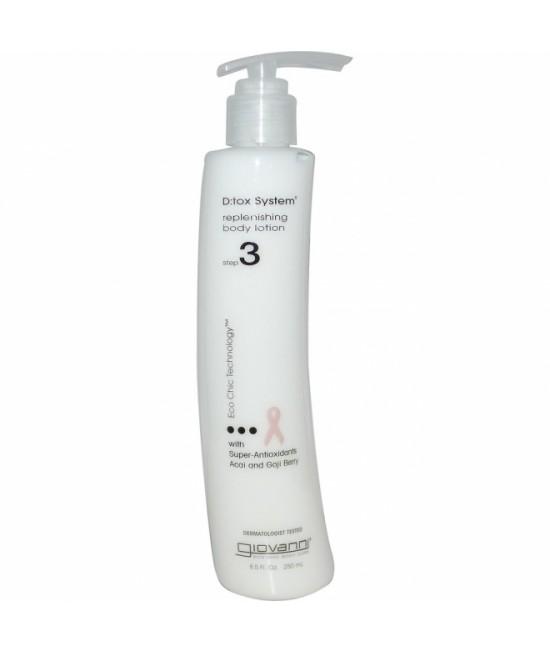 Cremă hidratantă de corp cu antioxidanți Giovanni DTOX - pasul 3 de purificare a pielii