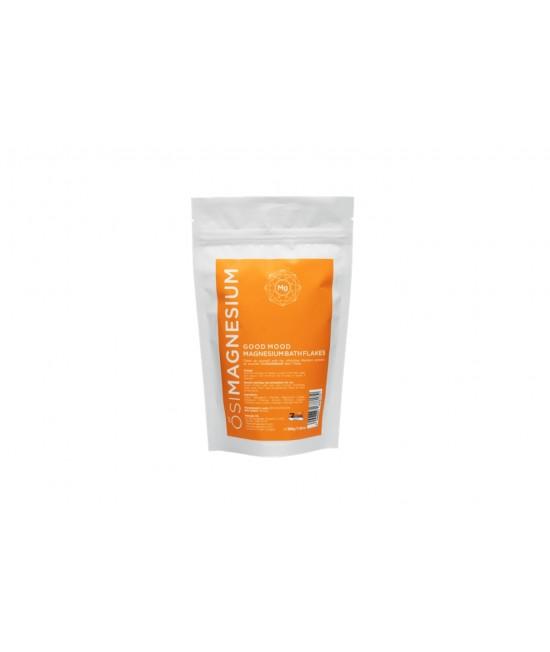 Fulgi de baie Good Mood (relaxanți) cu magneziu și ulei esențial de mandarină OsiMagnesium - 250 grame