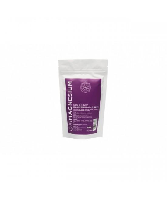 Fulgi de baie Good Night (relaxanți) cu magneziu și ulei esențial de lavandă OsiMagnesium - 200 grame