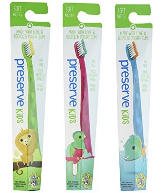 Periuță de dinți ecologică pentru copii (1-6 ani) - Preserve albastră - Pește