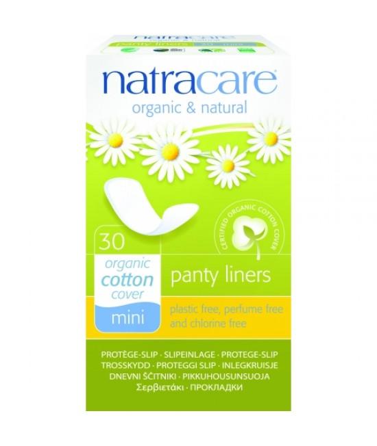 Absorbante zilnice naturale bio protej-slip breathable mini Natracare - panty-liner de zi cu zi - 30 bucăți