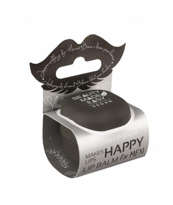 Balsam natural pentru buze Beauty Made Easy cu mentă și aloe vera pentru bărbați