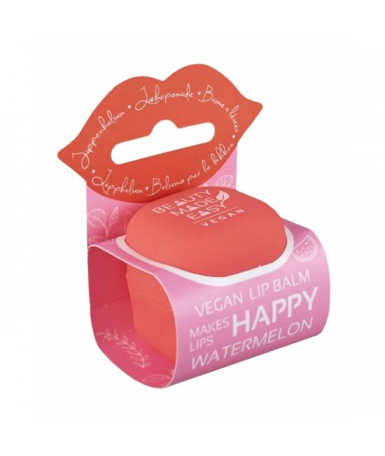Balsam natural pentru buze Beauty Made Easy cu pepene roșu și aloe vera