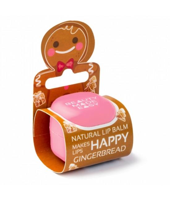 Balsam natural pentru buze Beauty Made Easy cu turtă dulce - Ediție limitată de Crăciun