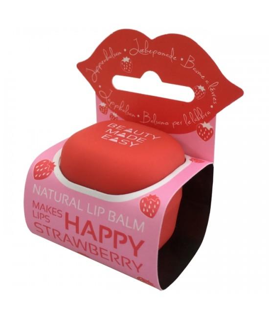 Balsam natural pentru buze Beauty Made Easy cu căpșuni