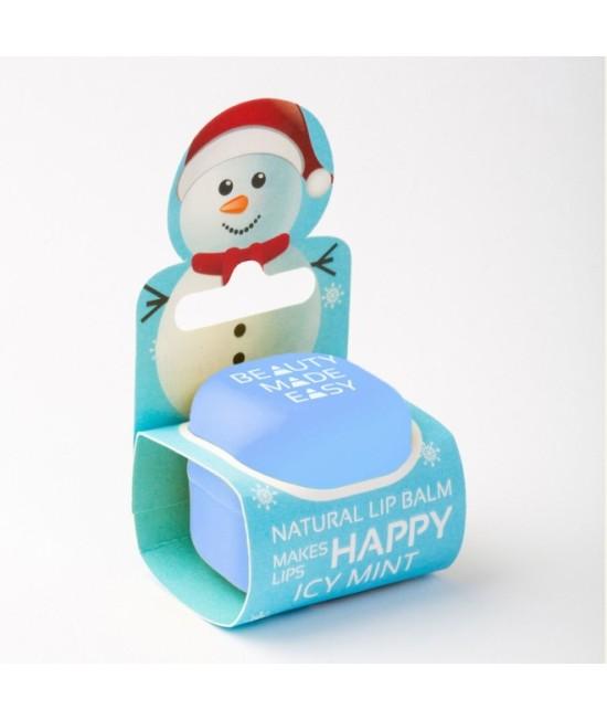Balsam natural pentru buze Beauty Made Easy cu mentă răcoritoare - Ediție limitată de Crăciun
