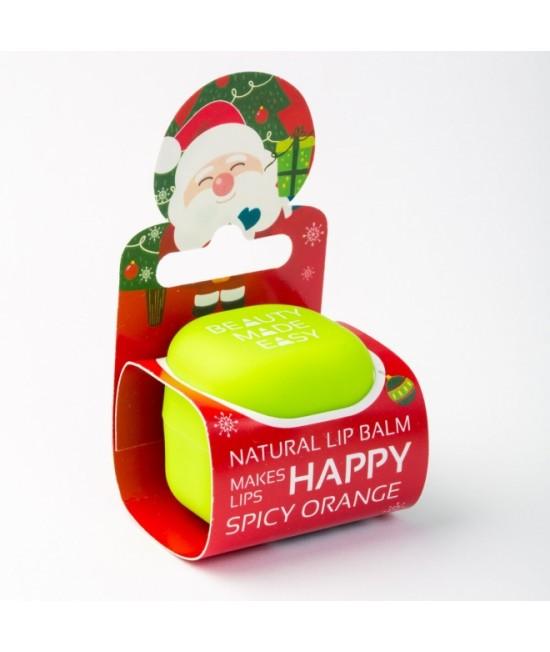 Balsam natural pentru buze Beauty Made Easy cu portocale - Ediție limitată de Crăciun