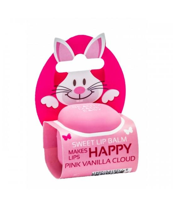 Balsam natural pentru buze Beauty Made Easy Pink Vanilla Cloud - Ediție limitată de primăvară - cu ulei de semințe de merișor