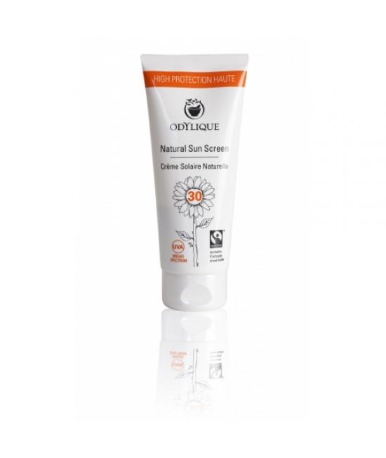 Cremă BIO de protecție solară SPF30 Odylique by Essential Care - cu mușețel, zinc și unt de Shea, pentru piele sensibilă