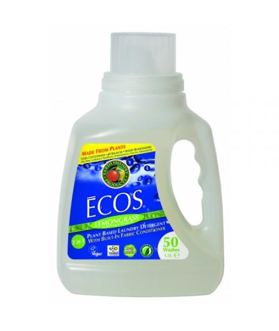 Detergent lichid ecologic pentru rufe Ecos Lemongrass - 50 de spălări