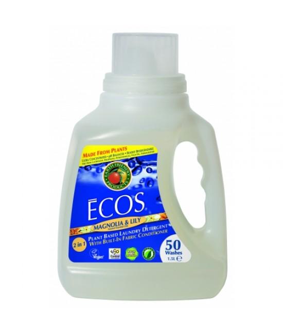 Detergent lichid ecologic pentru rufe Ecos Magnolie și Lăcrămioare - 50 de spălări
