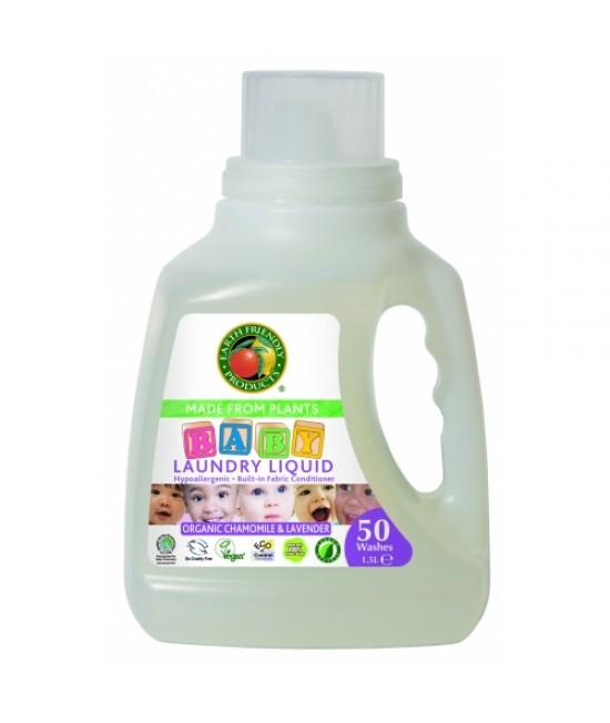 Detergent lichid ecologic pentru rufele bebelușilor Ecos Mușețel și Lavandă - 50 de spălări