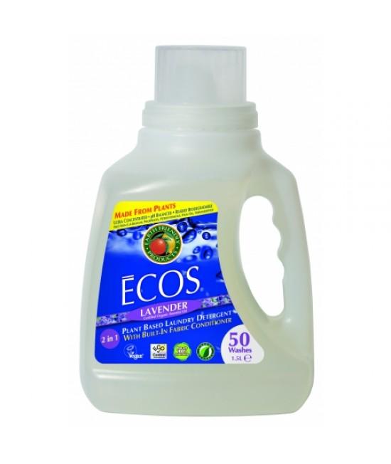 Detergent lichid ecologic pentru rufe Ecos Lavandă - 50 de spălări