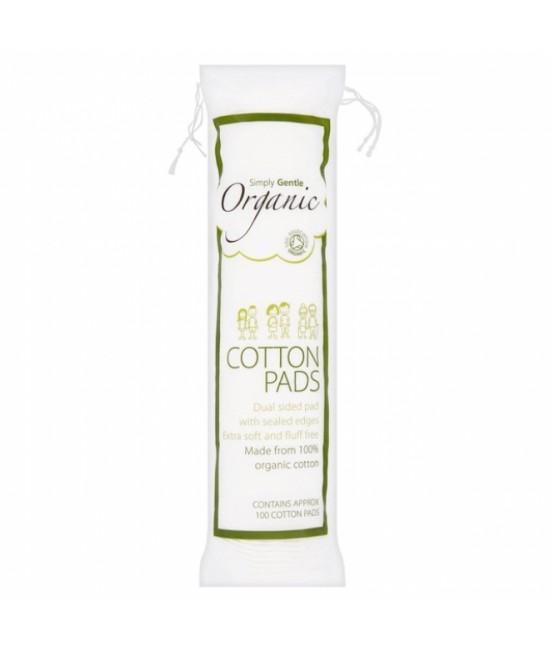 Dischete demachiante din bumbac organic 100% - Macdonald and Taylor - Simply Gentle Organic
