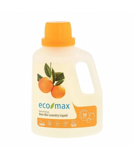 Detergent ecologic concentrat Ecomax pentru rufe - cu portocală - 1,5 litri (50 de spălări)