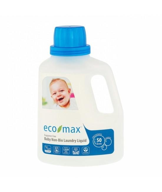 Detergent ecologic hipoalergen Ecomax pentru hainele bebelușului - fără parfum - 1,5 litri (50 de spălări)