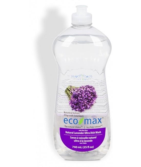 Detergent ecologic hipoalergen Ecomax pentru vase - cu lavandă și aloe vera - 740 ml