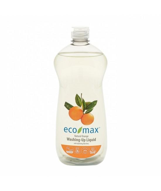 Detergent ecologic hipoalergen Ecomax pentru vase - cu portocale și aloe vera - 740 ml