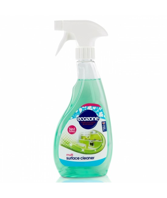 Soluție de curățat Ecozone pentru multi-suprafețe 3-în-1 - 500 ml