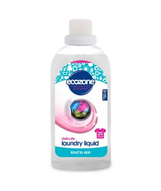 Detergent ECO fără miros Ecozone pentru hainele bebelușilor și pentru rufe delicate - 25 spălări, 750 ml