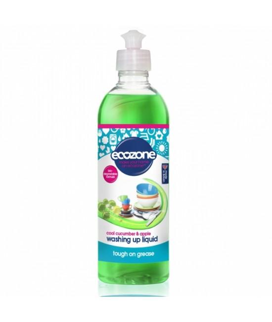 Detergent ECO cu castravete și măr Ecozone pentru spălat vase - 500 ml