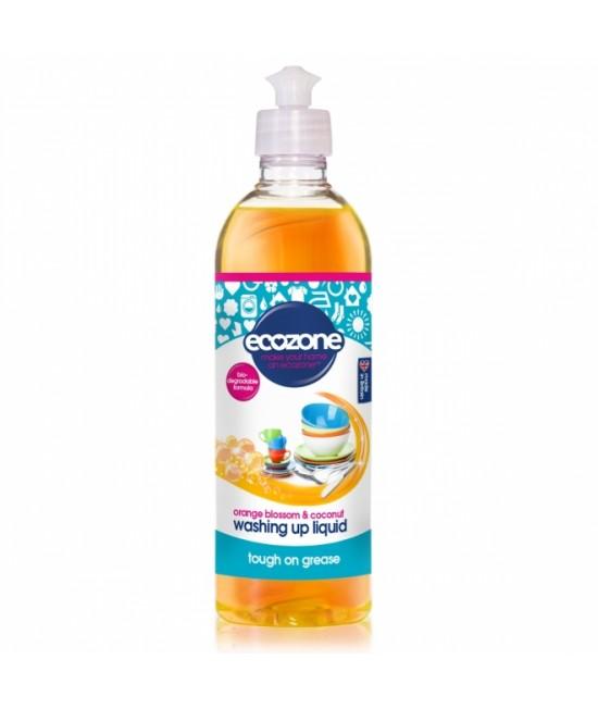 Detergent ECO cu floare de portocal și nucă de cocos Ecozone pentru spălat vase - 500 ml