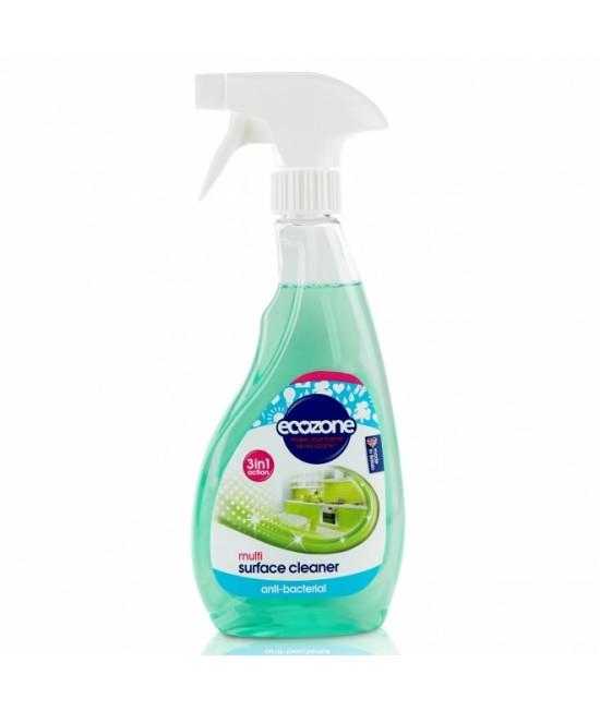 Soluție dezinfectantă antibacteriană Ecozone pentru multi-suprafețe 3-în-1 - 500 ml