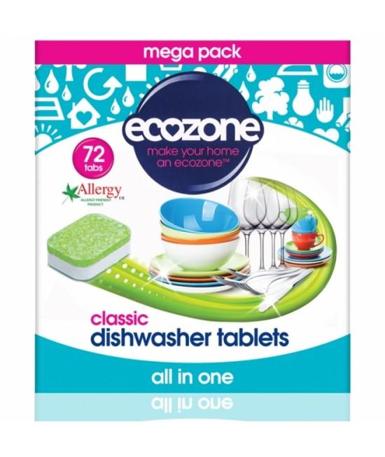 Detergent ecologic tablete Ecozone pentru mașina de spălat vase - 72 buc
