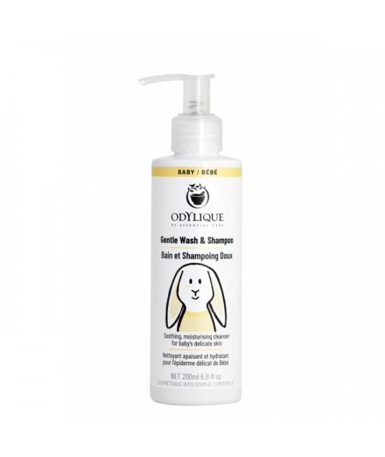 Șampon și gel de duș bio Odylique by Essential Care pentru copii și bebeluși