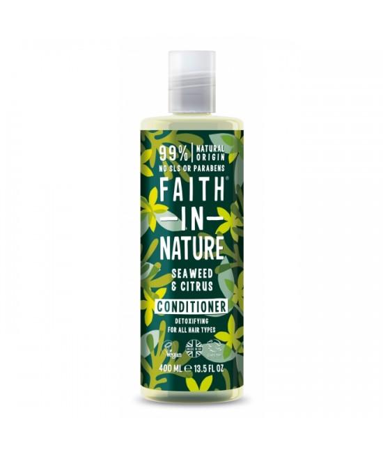 Balsam natural cu alge marine și citrice Faith in Nature pentru toate tipurile de păr - 400 ml