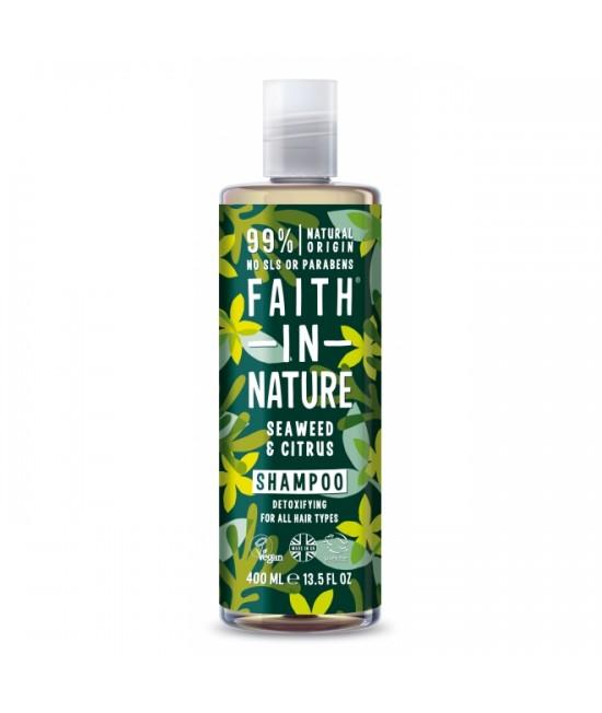Șampon natural cu alge marine și citrice Faith in Nature pentru toate tipurile de păr - 400 ml