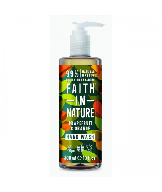 Săpun natural lichid cu grapefruit și portocale Faith in Nature - 300 ml