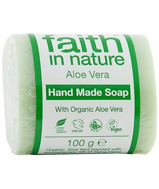 Săpun natural cu aloe vera BIO Faith in Nature handmade (fabricat manual)