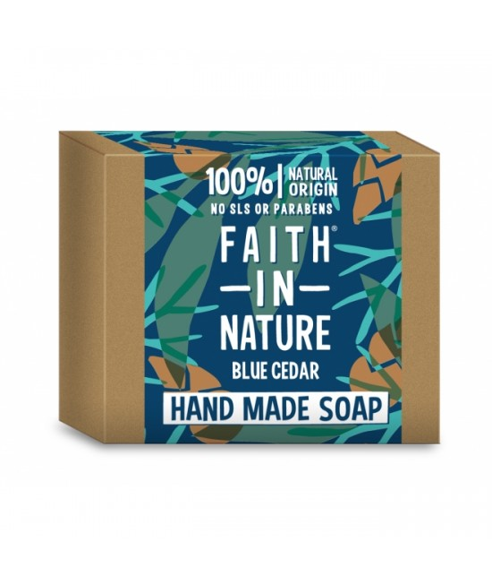 Săpun natural cu cedru albastru BIO Faith in Nature handmade (fabricat manual) - pentru bărbați