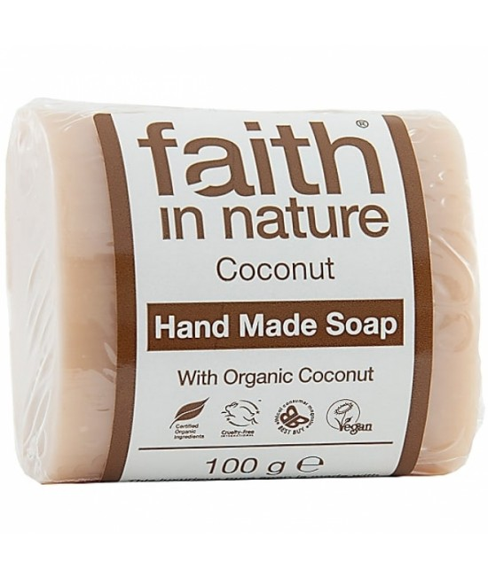 Săpun natural cu cocos BIO Faith in Nature handmade (fabricat manual)